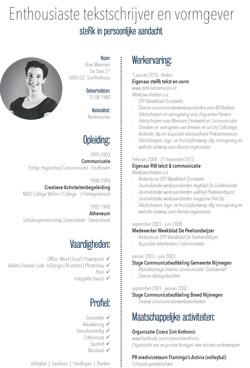 CV Rian Weemen - tekstschrijver en vormgever